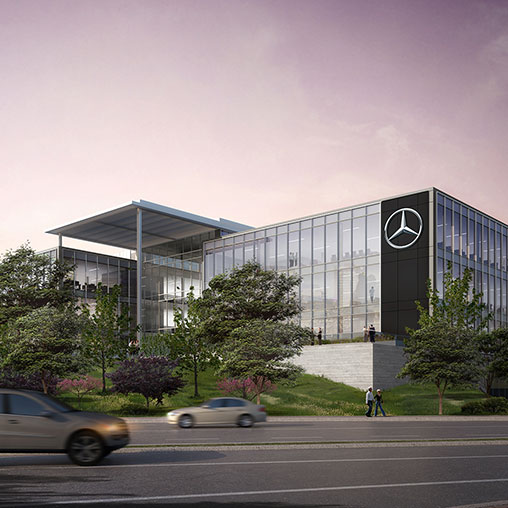 Mercedes benz usa headquarters projects gensler for Mercedes benz north america headquarters