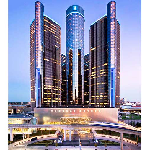 General motors renaissance center fa ade lighting for General motors service center