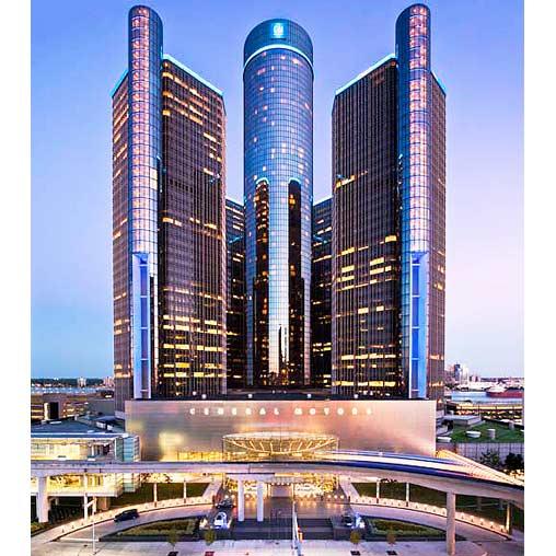 General Motors Renaissance Center Fa U00e7ade Lighting
